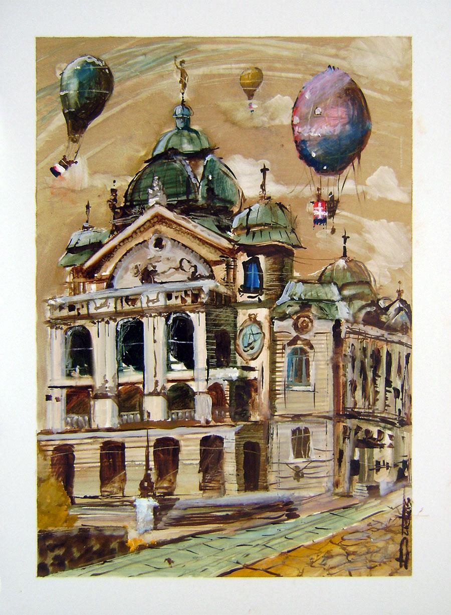 Eduard Dudáš - Balóny nad divadlom