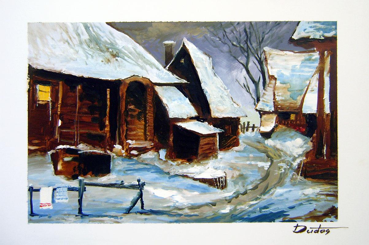 Eduard Dudáš - Zima na dedine