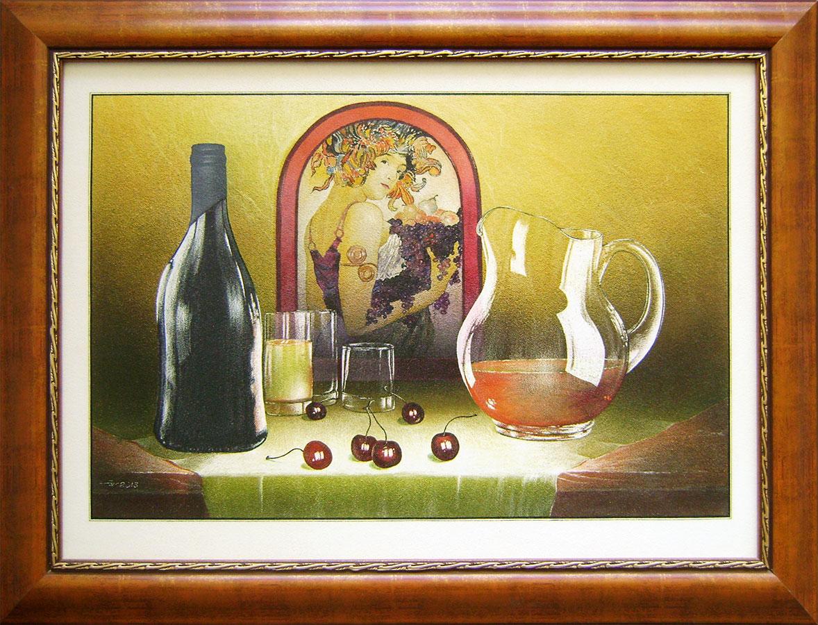 Valerij Gožij - Zátišie s čerešňami