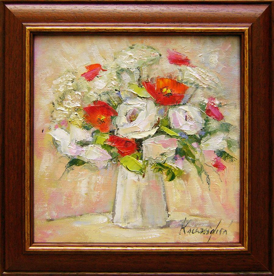 Emília Ksenzsighová - Biele ruže s makmi