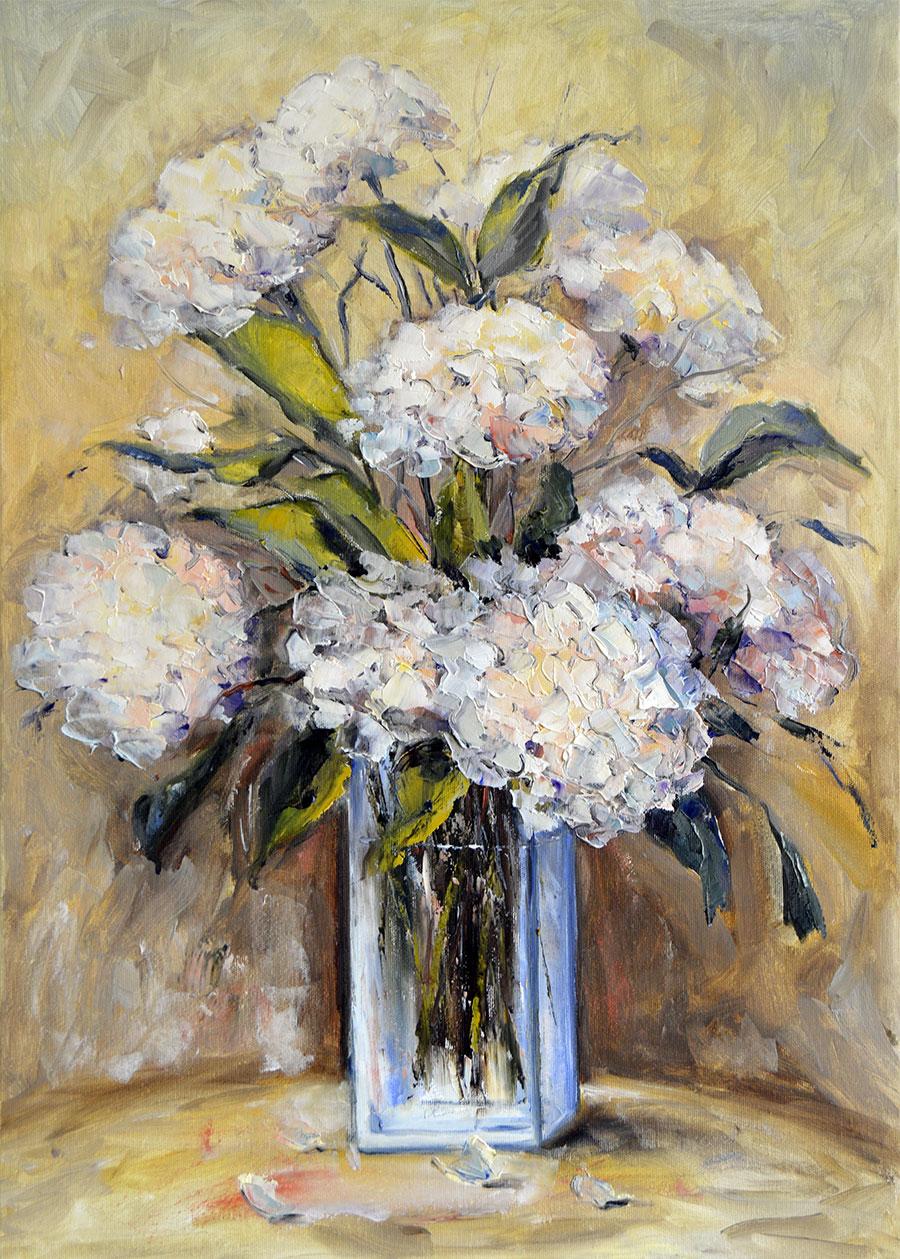 Ester Ksenzsigh - Biele hortenzie