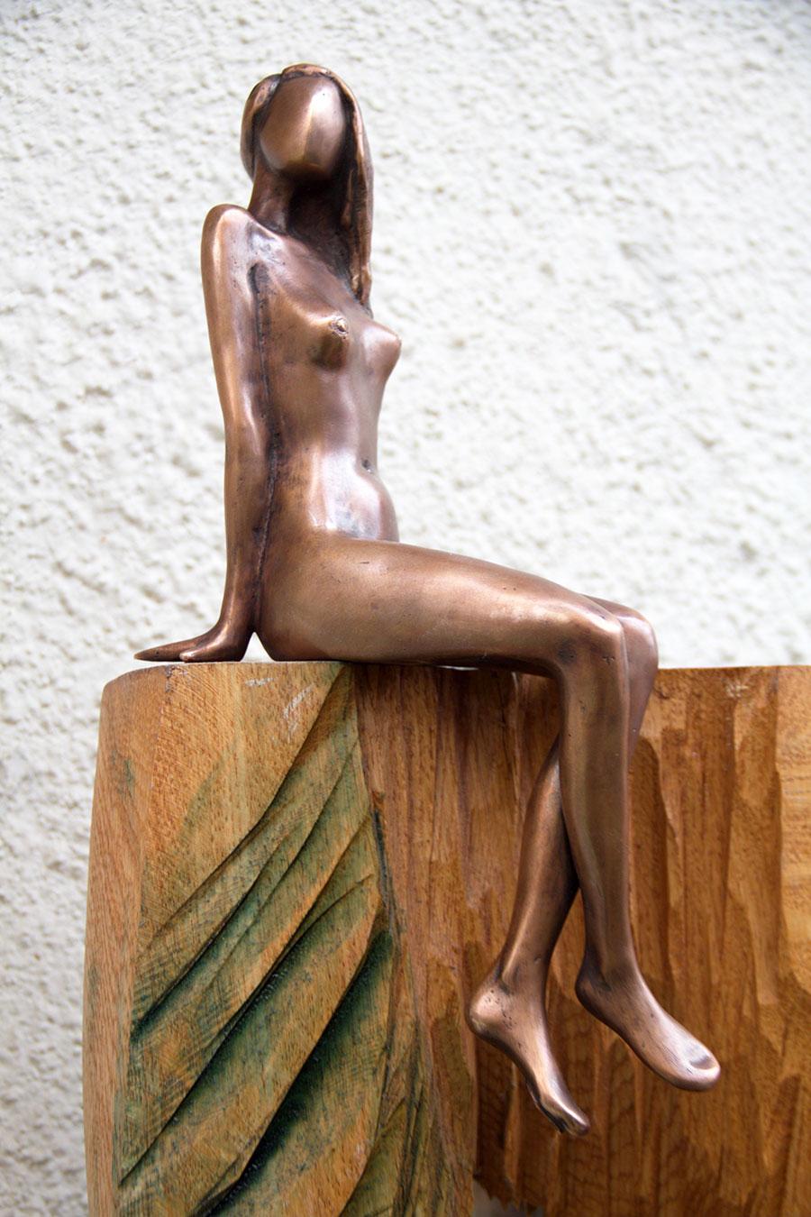 János Lukács - Sediace dievča