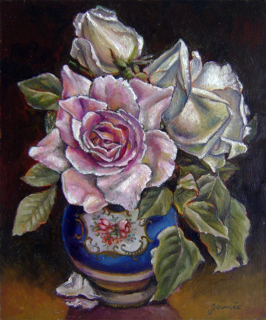 Ján Šoltés - Zátišie s ružou